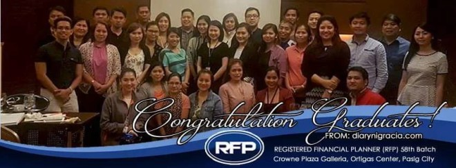 58th Registered Financial Planner RFP Graduates
