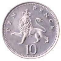 10 pence coin