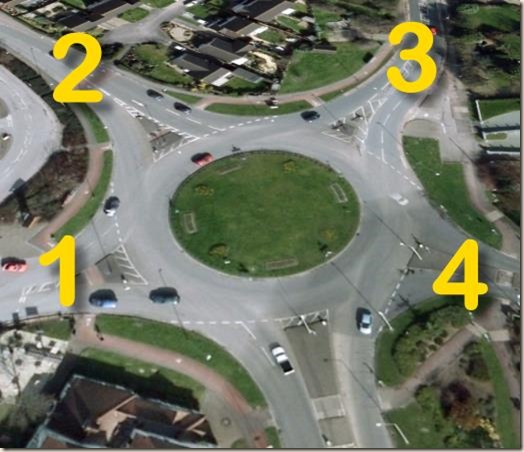 Roundabout in Gloucester