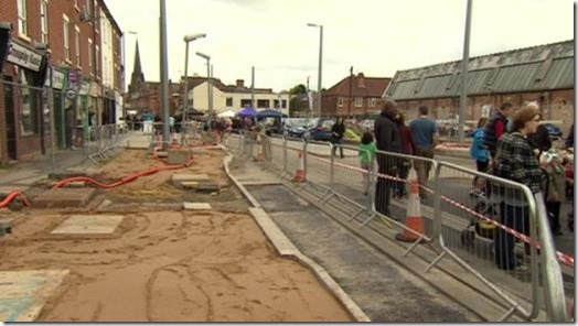 Tram works still incomplete in spite of party