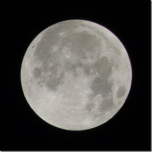 Moon - about 1.20am Monday morning