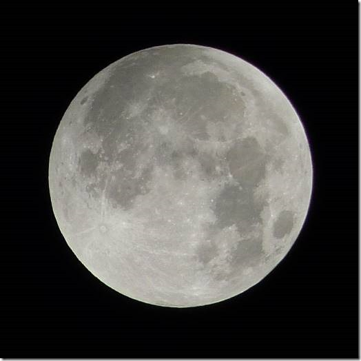 Moon - about 1.40am Monday morning