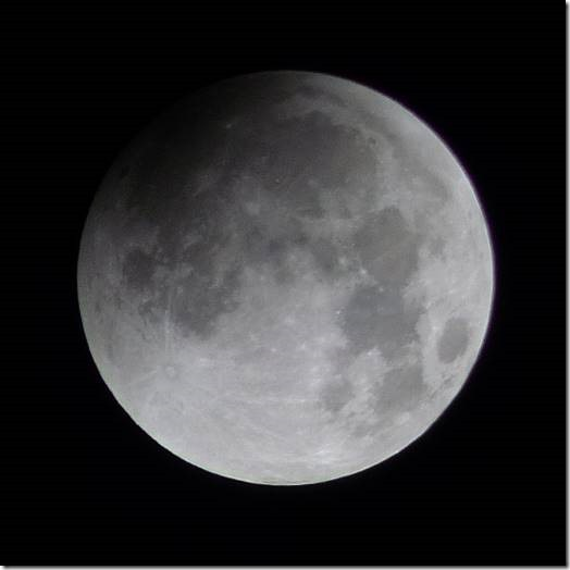 Moon - approximately 2.10am Monday