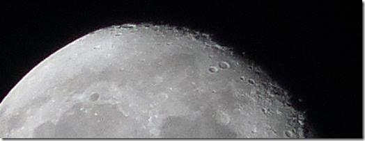 Moon - top corner