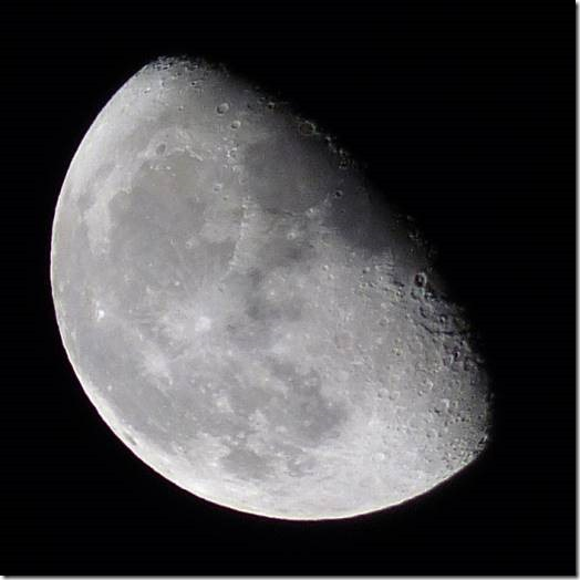 The moon as it appeared on 3 October 2015