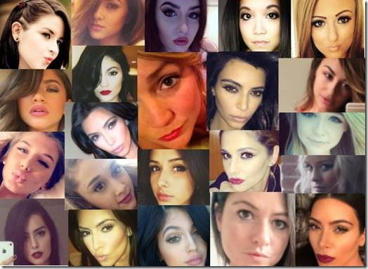 A selection of Googled selfies
