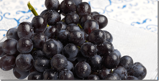 Sable black grapes