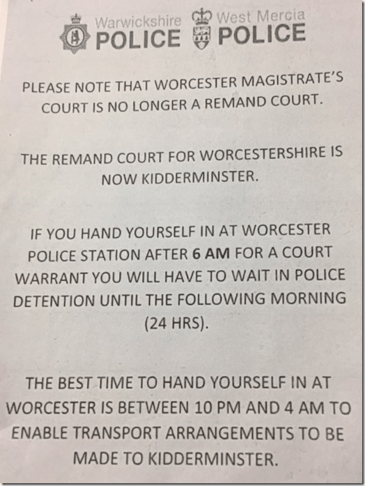 Police message to criminals - West Mercia Police