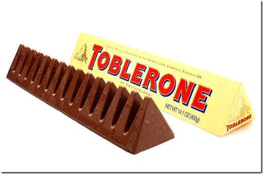 A proper Toblerone bar