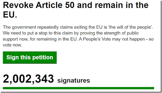 Article 50 petition