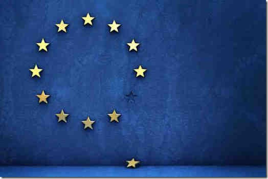 Euro Flag - with the idiot UK star fallen