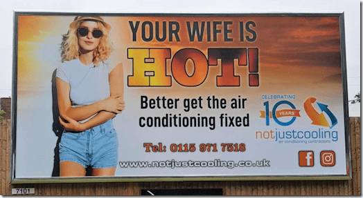 Your Wife Is Hot billboard ad