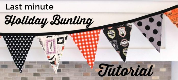 How to make a simple holiday pennant bunting using triangles cut by the AccuQuilt Go Cutting system