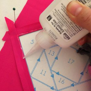 Glue basting quilt tutorial