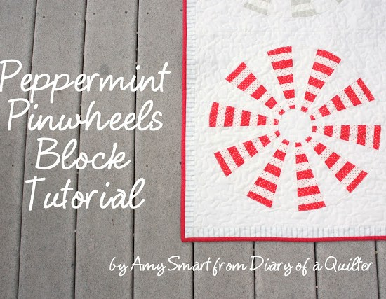 Peppermint Pinwheel block