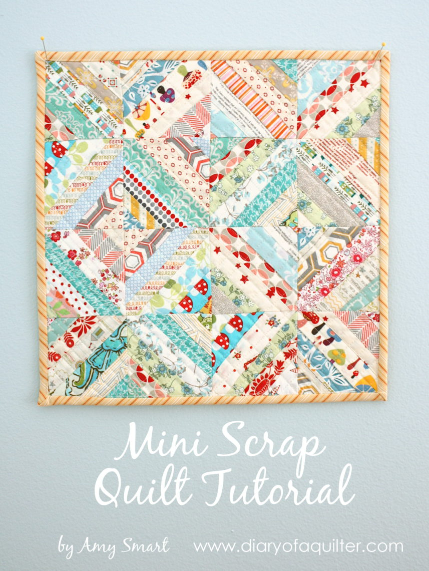 Easy Scrap Fabric Quilt Block Diary Of A Quilter A Quilt Blog