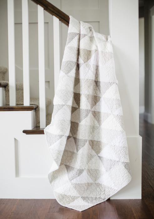Grey and white modern neutrals quilt