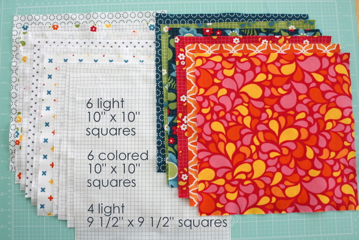 star baby quilt tutorial featured by top US quilting blog, Diary of a Quilter: Baby star quilt fabric requirements