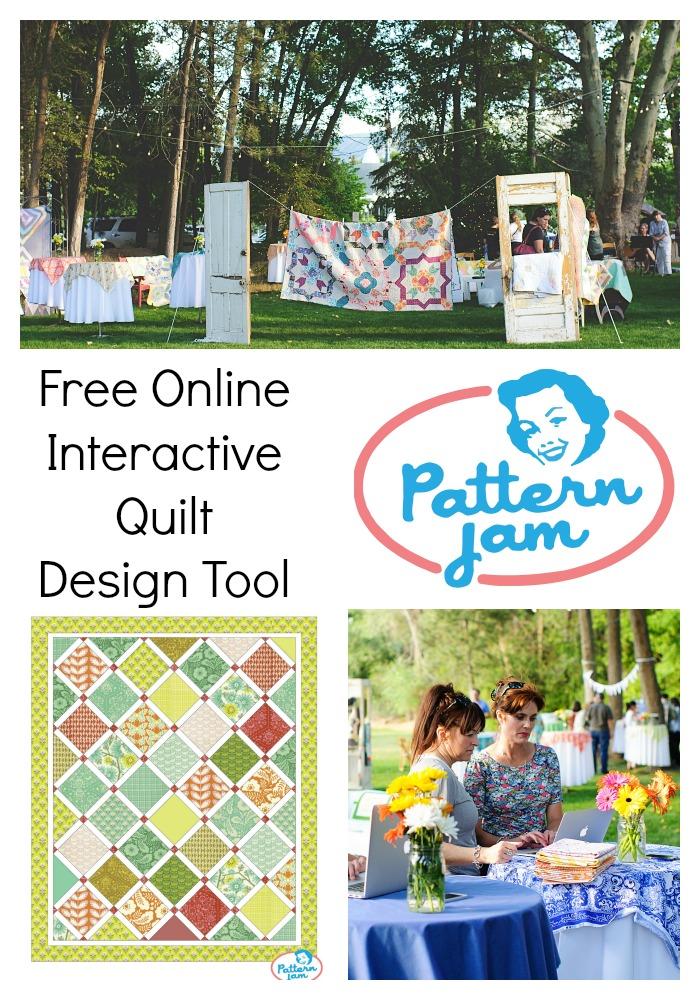 Pattern Jam Quilt Design Tool collage