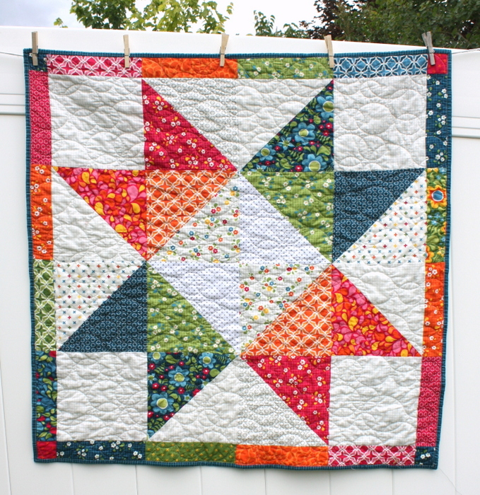 easy star baby quilt tutorial