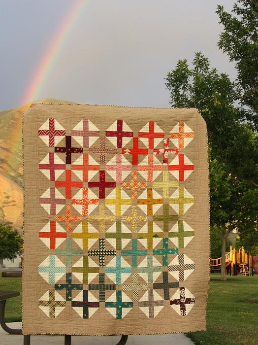 rainbow spectrum quilt