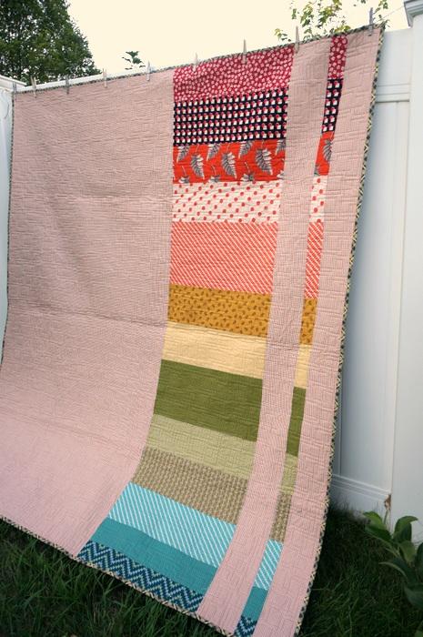 spectrum pieced quilt back