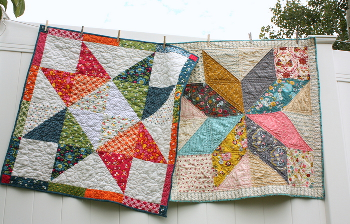 Beginner-friendly patchwork star baby quilt tutorials by Amy Smart, Diary of a Quilter.