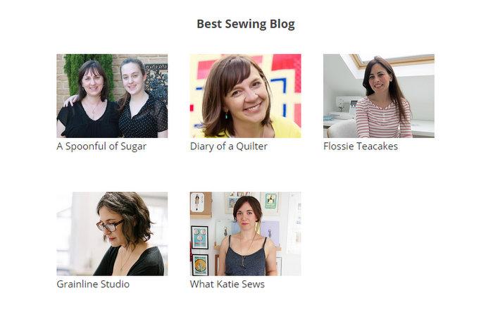 Bloglovin Best Sewing Blog nominees