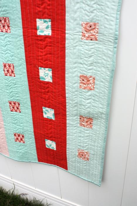 column baby quilt