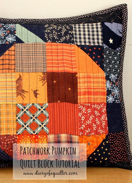 halloween pumpkin patchwork pillow tutorial
