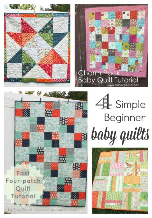 Four simple Baby Quilt Tutorials