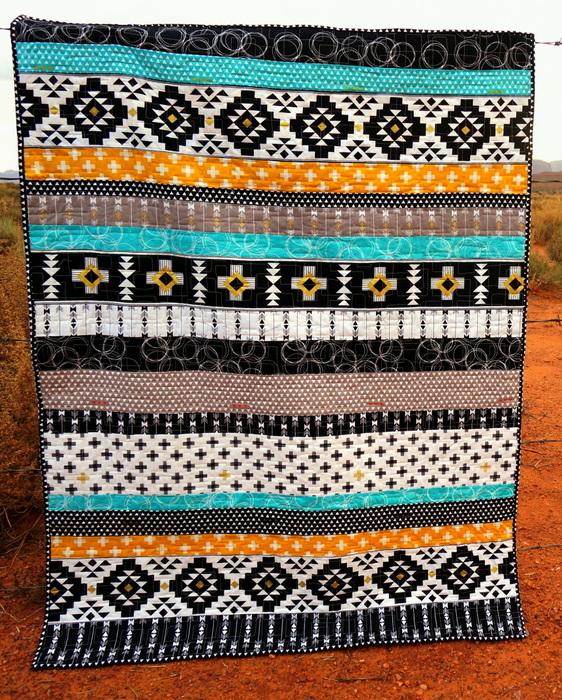 Riley Blake Four Corners Strip Quilt Tutorial