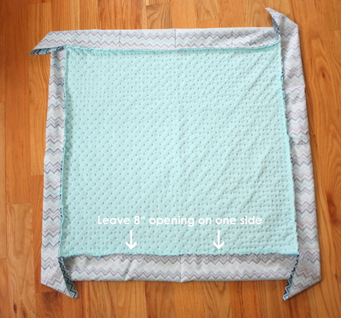 Self Binding Baby Blanket Tutorial featured by top US sewing blog, Diary of a Quilter