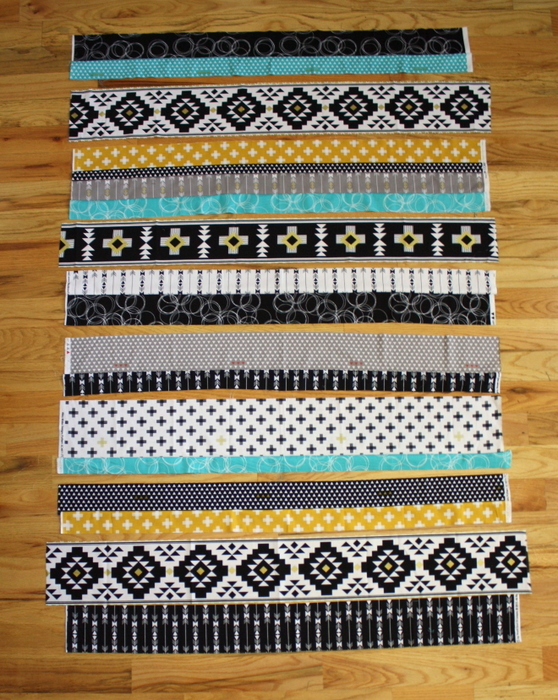 sew strip rows together