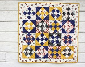 Nine patch quilt on point tutorial