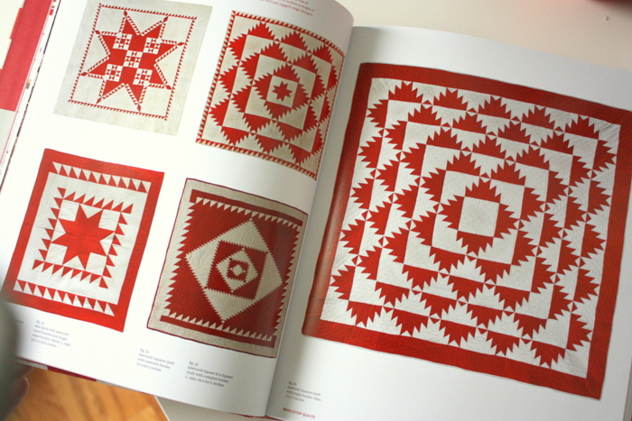 Red and white quilt book-001