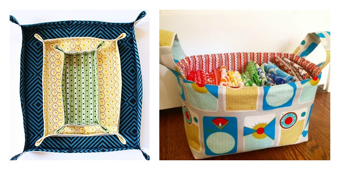 fabric basket collage