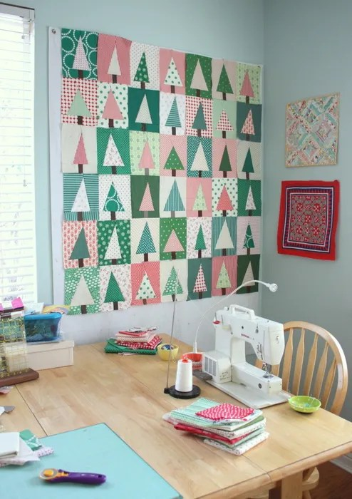 Amy Smart Christmas sewing room