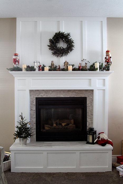 Fireplace mantle redo after