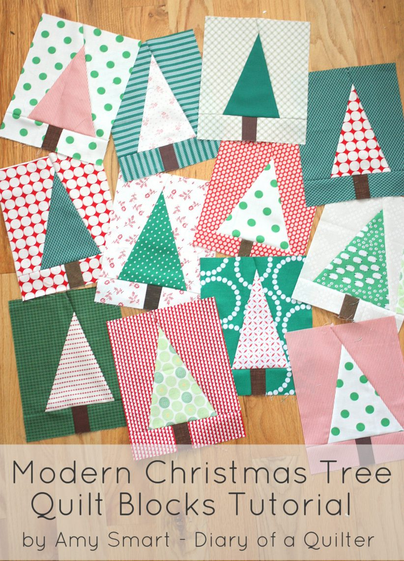 Christmas Tree Quilt Block Pattern Tutorial Diary Of A Quilter A