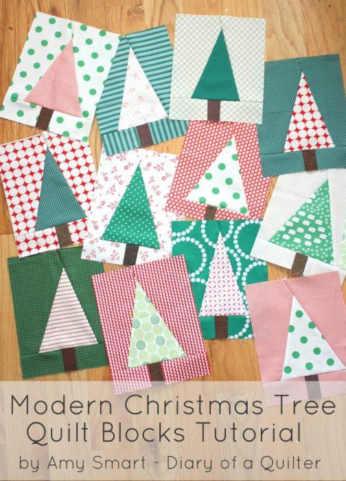Modern Tree Quilt Block