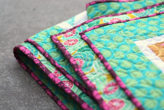 Amy Butler quilt binding