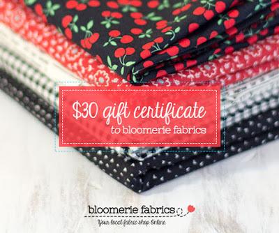 Gift Certificate - Bloomerie Fabrics
