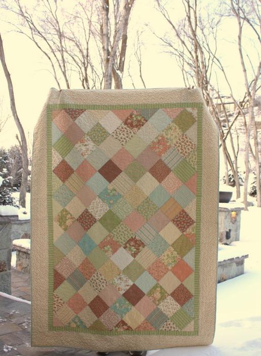 Moda Fig Tree patchwork quilt