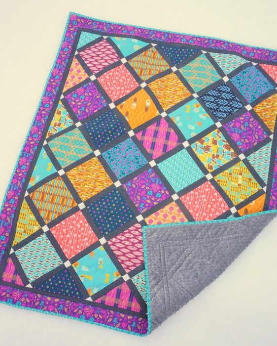 Printed Panel Lattice quilt from Pattern Jam