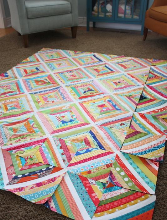 strings scraps quilt