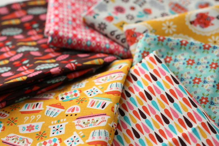 Vintage Kitchen pyrex fabric