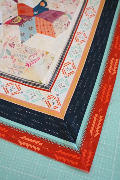 mitered quilt corner