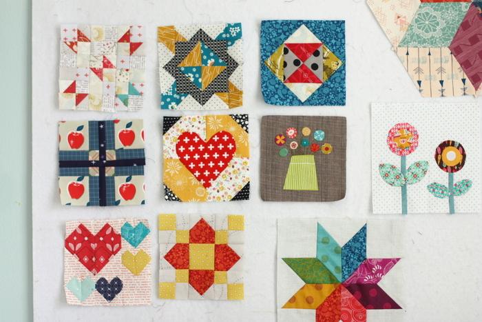 Quilt blocks design wall