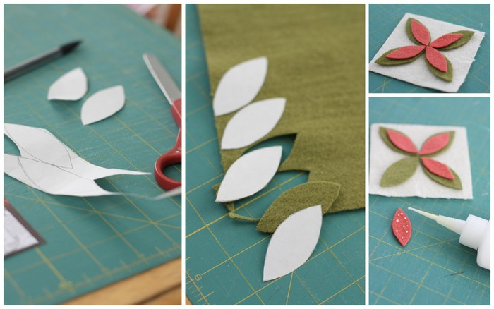 Wool pincushion step by step